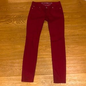 Womens Express Zelda Slim Fit Ultra Low Rise Jeans